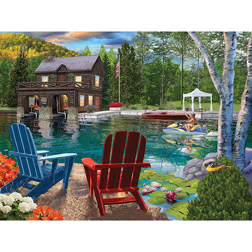 Summer At The Boathouse 1000 Piece Jigsaw Puzzle