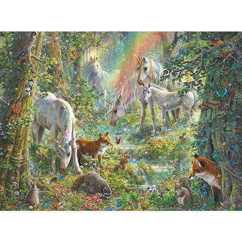 Unicorn Meadow 300 Large Piece Glitter Jigsaw Puzzle