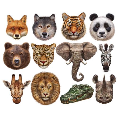 Wild Animals Mini Shaped 500 Piece Jigsaw Puzzles