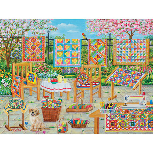 Back Yard Quilting 300 Large Piece Jigsaw Puzzle