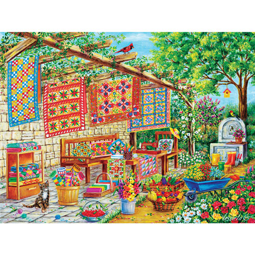 Summertime And The Quilting Is Easy 300 Large Piece Jigsaw Puzzle