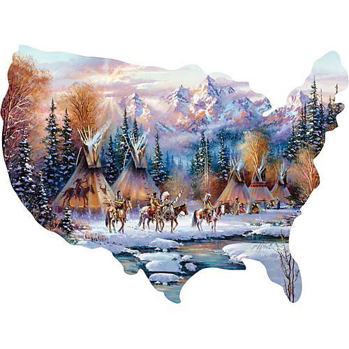 Home of the Brave 300 Large Piece Shaped Jigsaw Puzzle