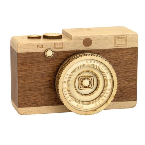 Wooden Camera Music Box- Raindrops Keep Fallin' On My Head