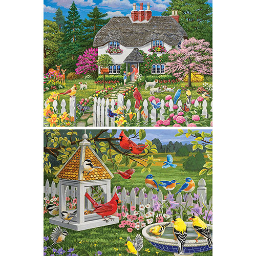 Set of 2: William Vanderdasson 300 Large Piece Jigsaw Puzzles