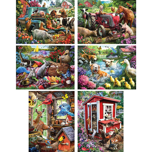 Set of 6: Larry Jones 500 Piece Jigsaw Puzzles