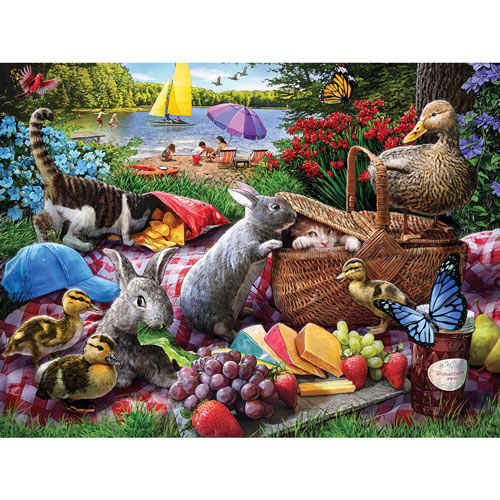 Picnic Surprise 300 Large Piece Jigsaw Puzzle