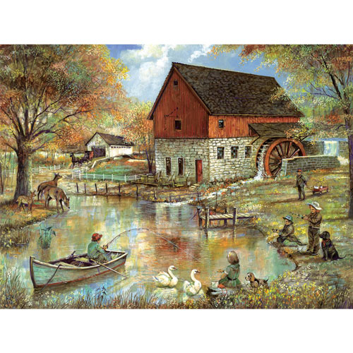 The Old Mill Pond 300 Large Piece Jigsaw Puzzle
