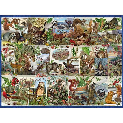 Wildlife Collage 300 Large Piece Jigsaw Puzzle