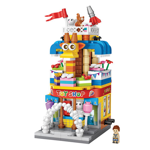 Your Town 3-D Block Puzzle - Toy Shop