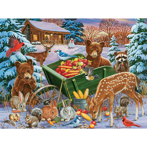 Feast For Forest Friends 300 Large Piece Jigsaw Puzzle