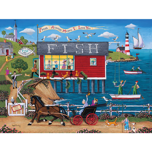 Today's Catch Fish Market 300 Large Piece Jigsaw Puzzle