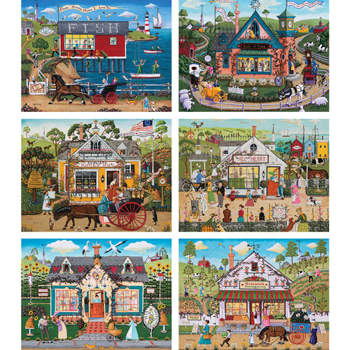 Set of 6: Joseph Holodook 300 Large Piece Jigsaw Puzzle