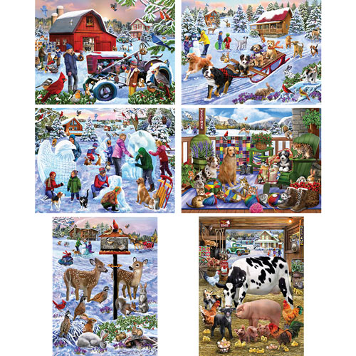 Set of 6: Mary Thompson 500 Piece Jigsaw Puzzle