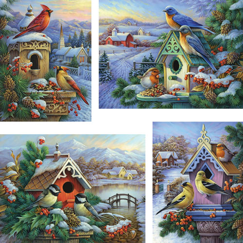 Set of 4: Oleg Gavrilov 300 Large Piece Jigsaw Puzzles