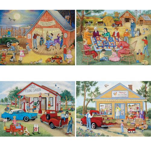 Friendly Folk 1000 Piece 4-in-1 Multi-Pack Puzzle Set