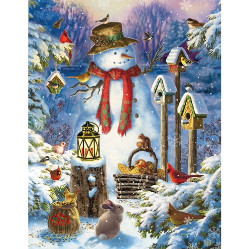 Snowman In The Wild 1000 Piece Jigsaw Puzzle