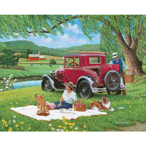Far From The Crowd 300 Large Piece Jigsaw Puzzle