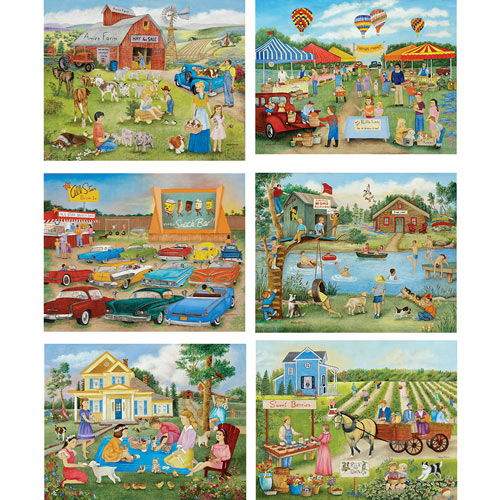 Set of 6: Kay Lamb Shannon 300 Large Piece Jigsaw Puzzles