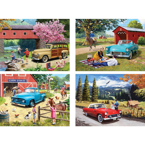 Set of 4: Kevin Walsh 300 Large Piece Jigsaw Puzzles