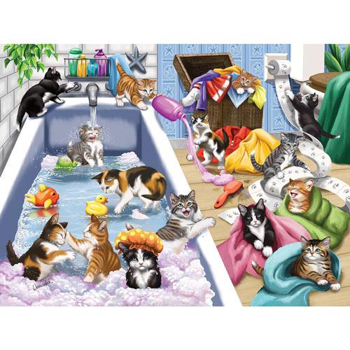 Bathtime Mischief 300 Large Piece Jigsaw Puzzle