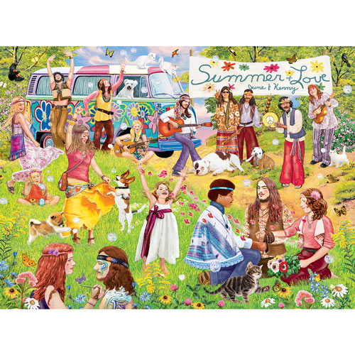 Summer of Love for June and Kennny 300 Large Piece Jigsaw Puzzle