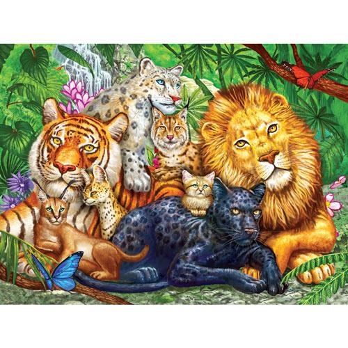 Big Cats 500 Piece Jigsaw Puzzle