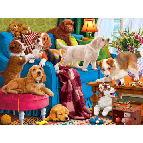 Playful Puppies 300 Large Piece Jigsaw Puzzle