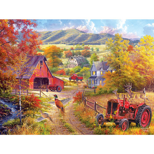 Down The Country Road 300 Large Piece Jigsaw Puzzle