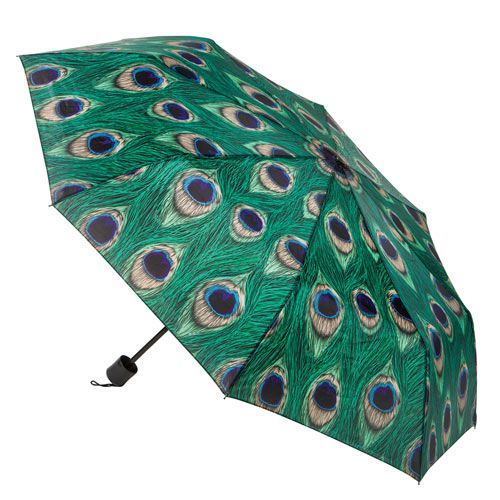 Compact Peacock Umbrella
