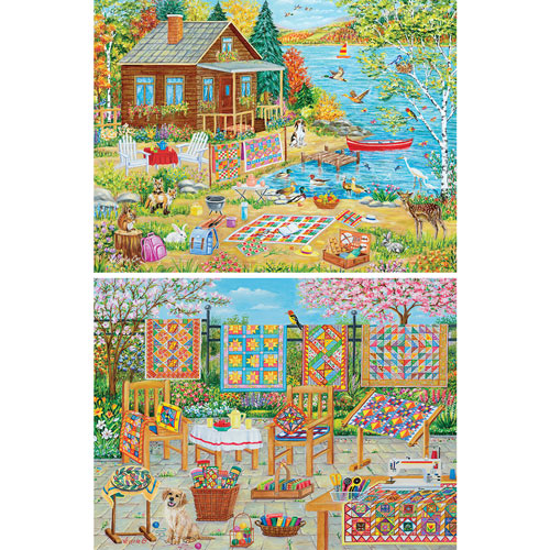 Set of 2: Vessela G 1000 Piece Jigsaw Puzzles