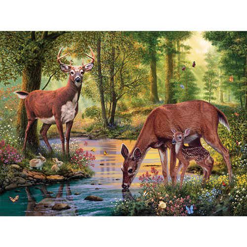 Woodland Stream 500 Piece Jigsaw Puzzle