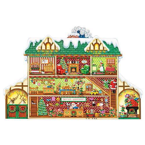Santa's Workshop 300 Large Piece Shaped Jigsaw Puzzle