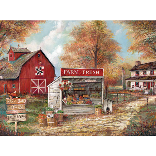 Farm Fresh Stand 300 Large Piece Jigsaw Puzzle