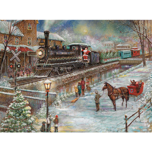 Christmas Train To Lambertville 1000 Piece Jigsaw Puzzle