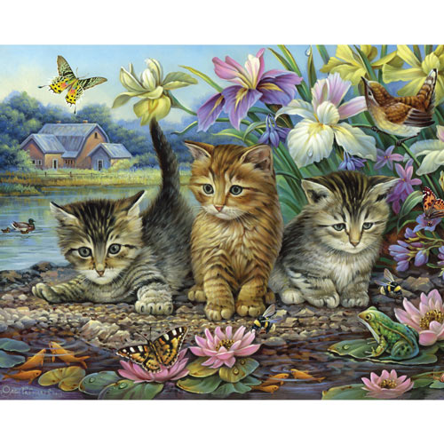 Curious Kittens 300 Large Piece Jigsaw Puzzle