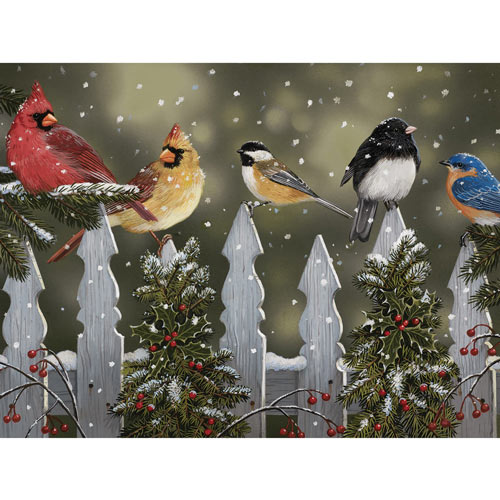 Winter Perch 300 Large Piece Jigsaw Puzzle