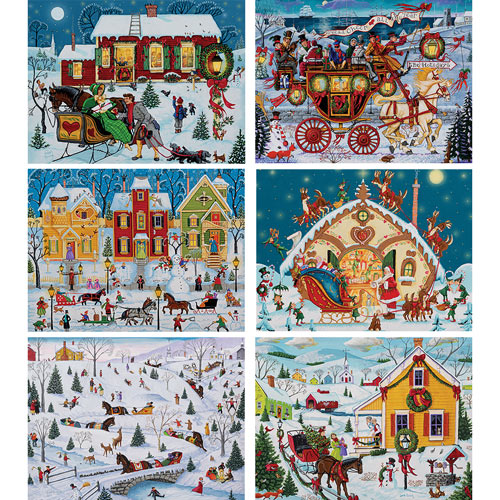 Set of 6: Joseph Holodook 500 Piece Jigsaw Puzzles