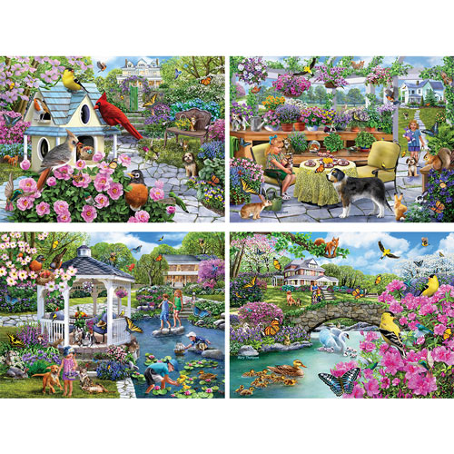 Mary Thompson 4-in-1 Multi-Pack 1000 Piece Puzzle Set