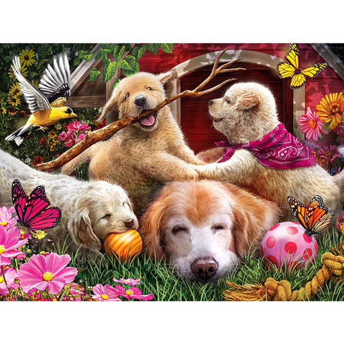 Doghouse Fun 300 Large Piece Jigsaw Puzzle