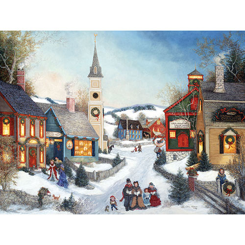 Carolers in Town Square 300 Large Piece Jigsaw Puzzle