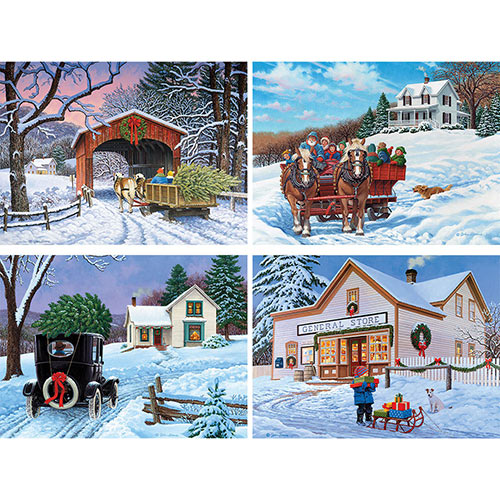 Set of 4: John Sloane 1000 Piece Jigsaw Puzzles