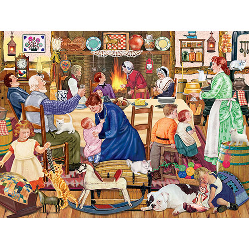 Grandpa's Birthday Kitten 300 Large Piece Jigsaw Puzzle