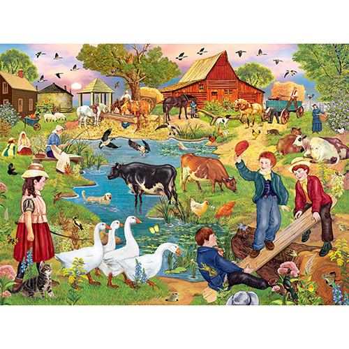 Indian Summer Sunset 300 Large Piece Jigsaw Puzzle
