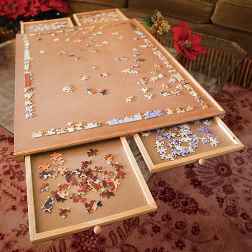 Standard Wooden Puzzle Plateau 1000