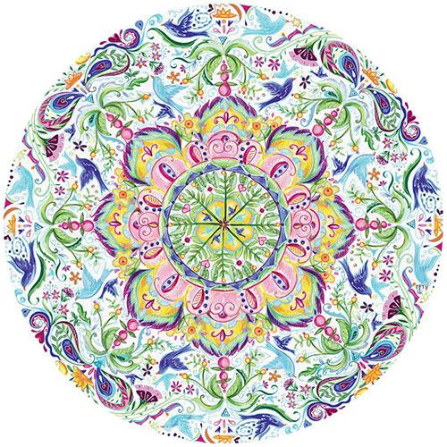 Blue Bird Kaleidoscope 500 Round Jigsaw Puzzle