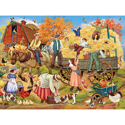 Hitching Up tor the Hayride 500 Piece Jigsaw Puzzle