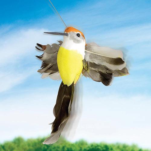 Solar Fluttering Hummingbird Garden Spinner