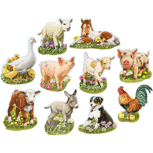 Mini Young Farm Animals 300 Large Piece Shaped Jigsaw Puzzle