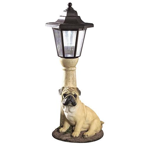 Solar Fawn Pug Lantern