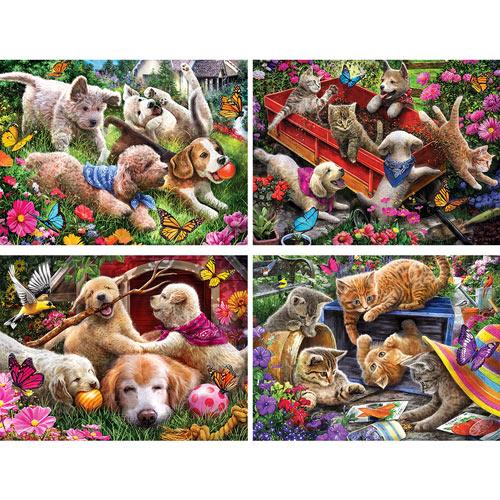 Set of 4: Larry Jones 500 Piece Jigsaw Puzzles